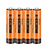 iMah AAA Rechargeable Batteries 1.2V 750mAh Ni-MH, Also Compatible with Panasonic Cordless Phone Battery 1.2V 550mAh HHR-55AAABU, 750mAh HHR-75AAA/B and 400mAh BK40AAABU, Outdoor Solar Lights, 4-Pack