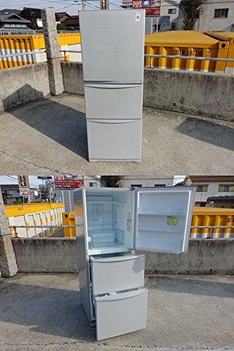 東芝 340L 3ドア冷蔵庫(ブライトシルバー)TOSHIBA 置けちゃうスリム GR-E34N-SS