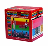 CanDo? Low Powder Exercise Band - 50 yard roll - Red - light