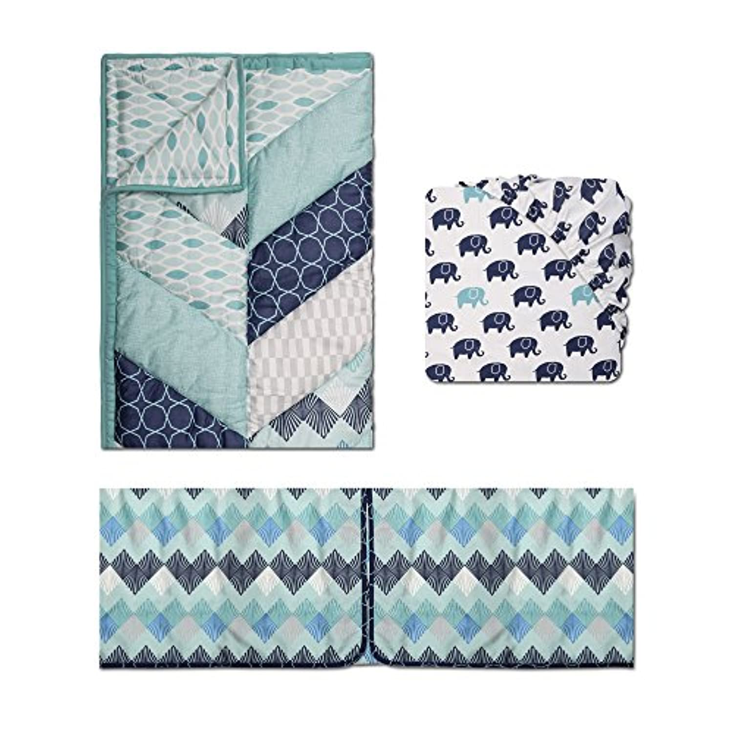 Mosaic 3 Piece Baby Crib Bedding Set by The Peanut Shell by The Peanut Shell
