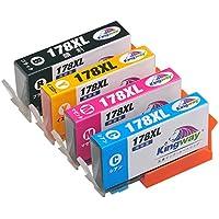 【Amazon.co.jp限定】 HP ヒューレットパッカード HP178 HP178xl 互換 インクカートリッジ 4色マルチパック 全色増量タイプ ICチップ付 残量表示有