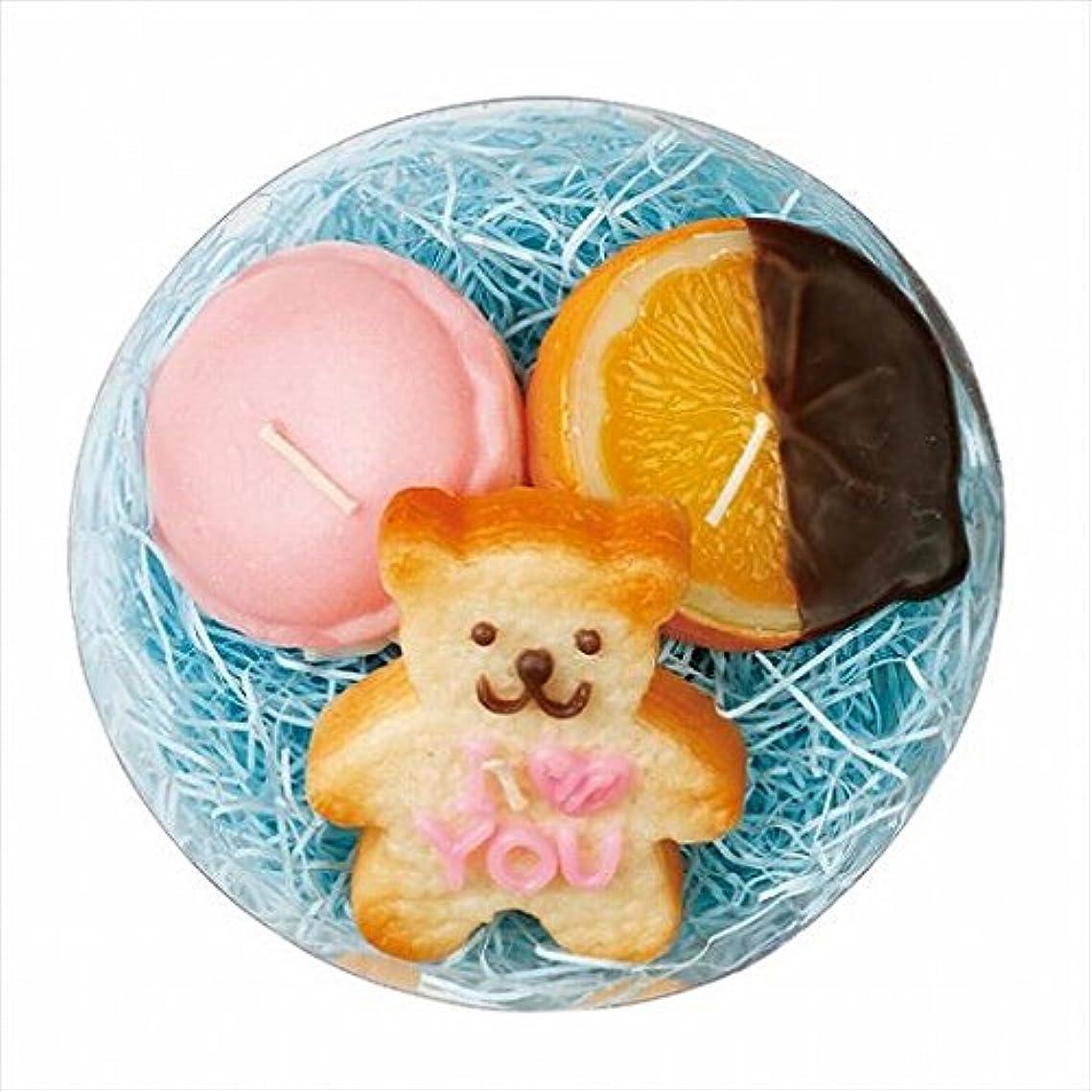 楕円形試み改善するスイーツキャンドル(sweets candle) プチスイーツキャンドルセット 「 バニラベア 」
