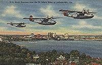 ジャクソンビル FL - セントジョンズRvを超える海軍の爆撃 16 x 24 Signed Art Print LANT-6652-709