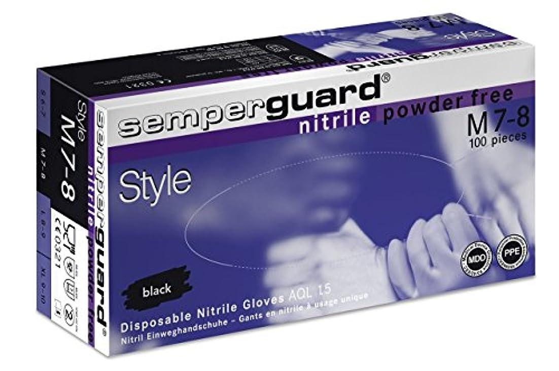 パトワ雑品寸法エバーメイト センパーガード ニトリルブラックグローブ ブラック M(7.0~7.5インチ)甲幅9cm 100枚入 6個セット
