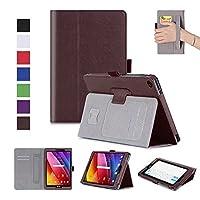 MaxKu ASUS ZenPad 10 Z301M / Z301MFL / Z301ML / Z301ML ケース高級PUレザーケース カバー 手帳型 軽量 全面保護型 スタンド機能付き スマートカバー (ブラウン)
