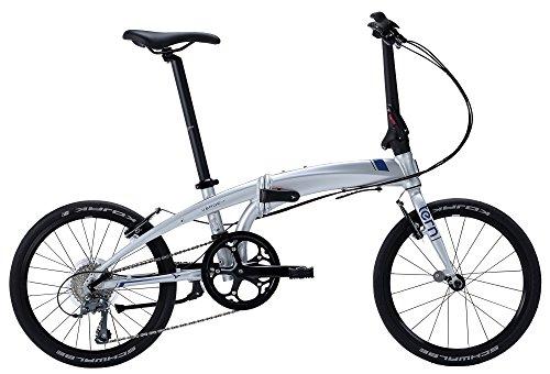 tern(ターン) Verge N8 8speed 折りたたみ自転車 2017年モデル 20インチ マットシルバー/コバルト 17VRN8MSBL