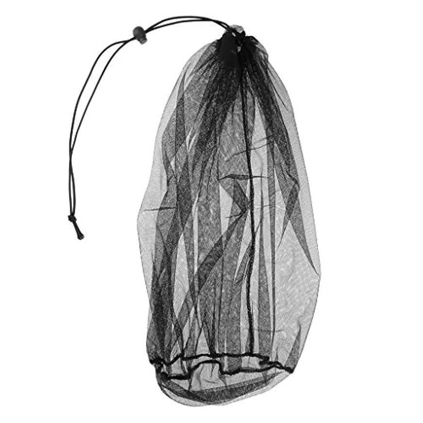 変更件名顧問Baoblaze 屋外 作業 釣り 抗蚊虫 蜜蜂忌避 ヘッドネット ベール マスク メッシュ 顔保護 ブラック