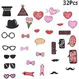BESTOYARD 32点 バレンタインデー フォトプロップス 写真小道具 結婚式 二次会 誕生日 パーティー用品