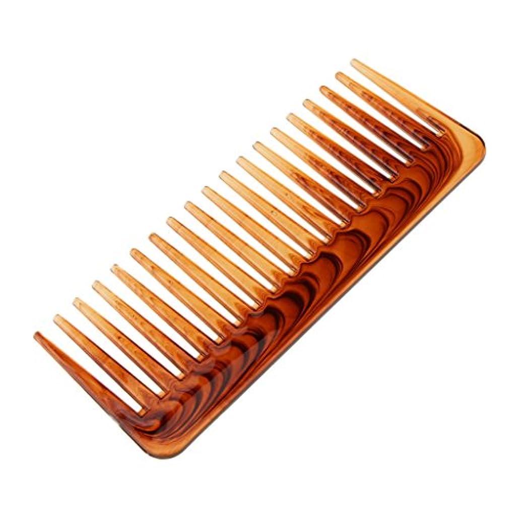 電気陽性率直なトロピカルPerfk ヘアコーム ワイド歯 ヘアブラシ 櫛 ヘアスタイリング 頭皮マッサージ 快適