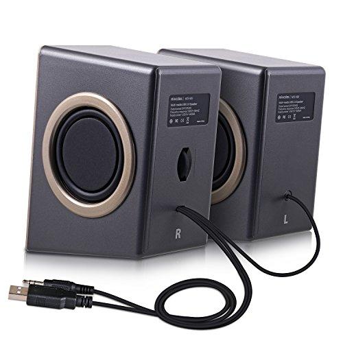 『PCスピーカー Mixcder MSH169 USB ステレオ マルチメディア スピーカー ステレオミニプラグ音源 小型 重低音 』の4枚目の画像
