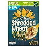(Shredded Wheat (千切り小麦)) 蜂蜜475グラムのヒントとの麦&つづら (x4) - Shredded Wheat Barley & Spelt with a Hint of Honey 475g (Pack of 4) [並行輸入品]