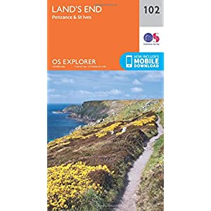 Land's End, Penzance and St Ives (OS Explorer Map)
