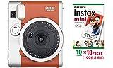 インスタントカメラ チェキ instax mini90 チェキ ネオクラシック ブラウン&フイルム100枚セット