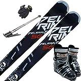 スキー5点セット SWALLOW 15-16 PELERIN-F BK 165cm ブーツ28cm ストック115cm メンズグローブ ワクシング施工