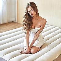 折り畳み式インフレータブルベッドは、二重使用の電動ポンプと屋外空気ベッドのピクニック折りたたみベッドを埋める (Color : 152 * 191cm(20.4 * 75.2 inches))