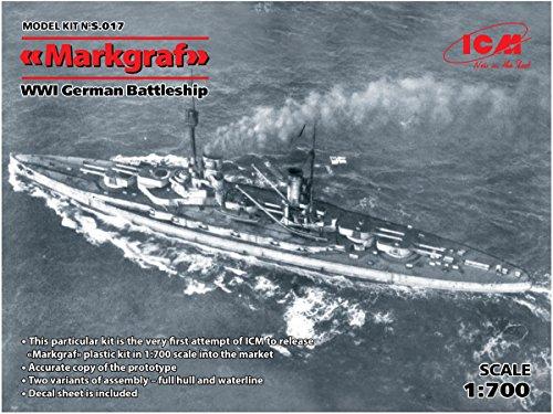 ICM 1/700 ドイツ海軍 弩級戦艦 マルクグラーフ プラモデル S017