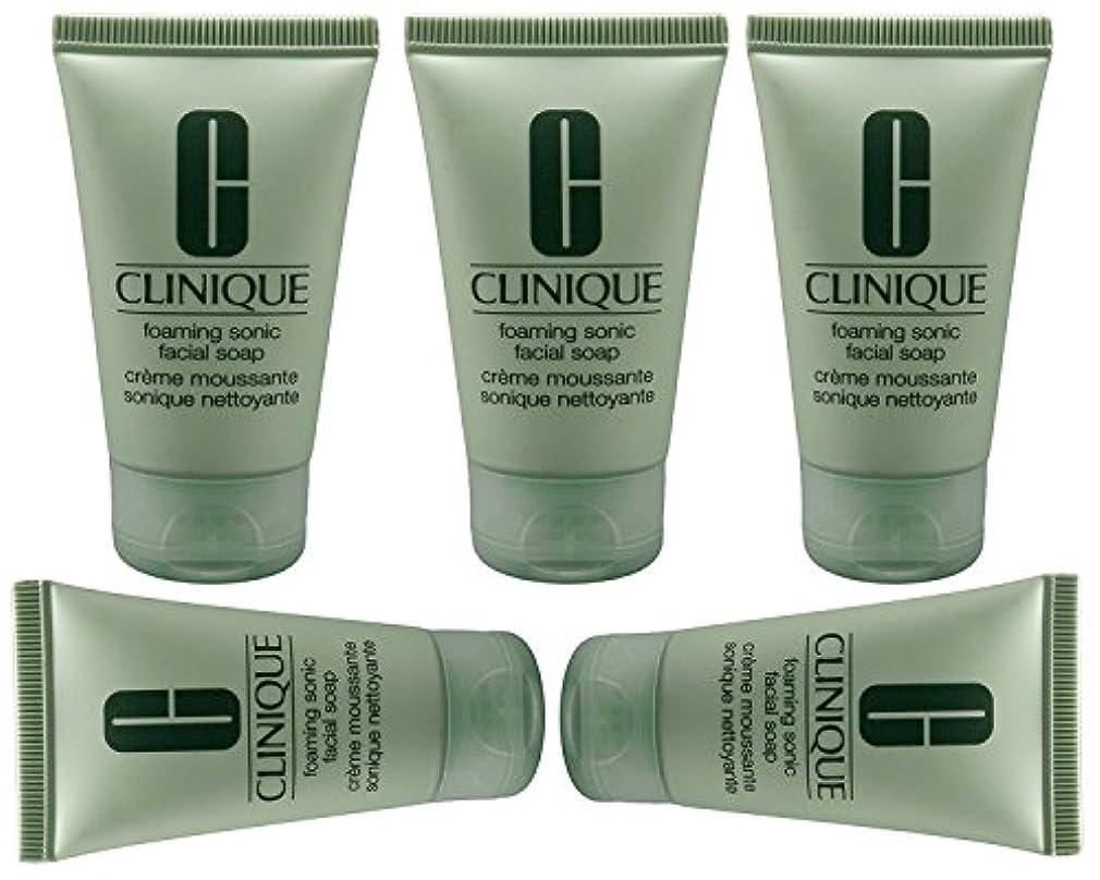 コース海賊結核Clinique 5X泡ソニック洗顔石鹸オンス/ 30MLは、5オンス/ 150ミリリットルを合計します