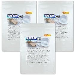 国産重曹 5kg×3袋 食品添加物 (食用)重炭酸ナトリウム 炭酸水素ナトリウム15kg [02]
