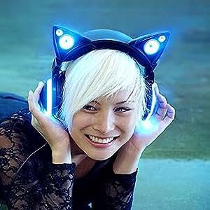 LED付き 高機能 ネコ耳ヘッドフォン 『AXENT WEAR』 Cat Ear Headphones 並行輸入品