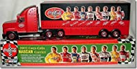 2002 NASCAR Coca Cola Family of Drivers Theme (Elliott, Labonte, Stewart, Harvick, Kyle Petty) Silver Rims Wheels Tractor Trailer Semi Rig Truck With One Coca Cola Race Car by Coca Cola [並行輸入品]