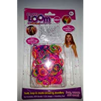 Loom Bands Neon x 300 1 Knotting Tool 12 S Clips Create Amazing Jewelery