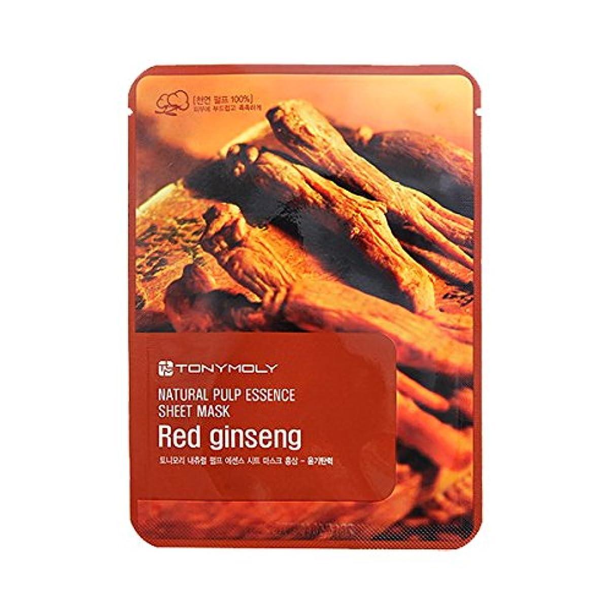 お手入れ勤勉セブン(6 Pack) TONYMOLY Pureness 100 Red Gingseng Mask Sheet Shine (並行輸入品)