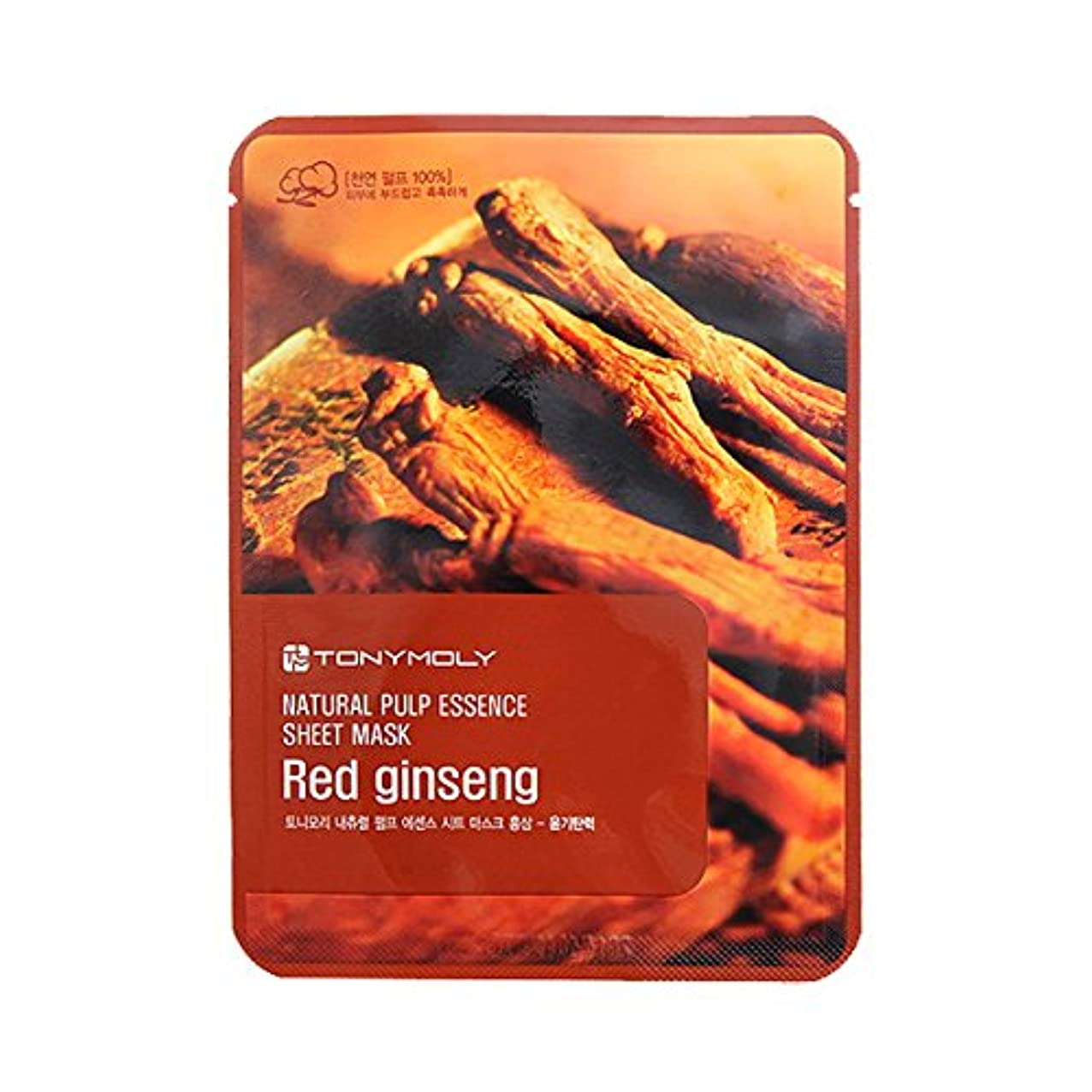 カスケード打ち負かす原稿(3 Pack) TONYMOLY Pureness 100 Red Gingseng Mask Sheet Shine (並行輸入品)