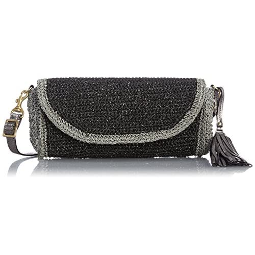 [ヴィオラドーロ] VIOLAd'ORO Basket Bag V-8065 BK (black / silver x silver dyed)
