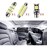 For VOLVO S60 2011-2015 LED Car Bulbs Reading lights Super Bright Car Interior Light Dome Map Side Courtesy Lamps Canbus Error Free Lights White 10Pcs