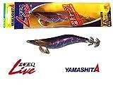 ヤマシタ(YAMASHITA) ルアー エギ エギ王 Q LIVE 3号 ラメ/ブラック/紫テープ