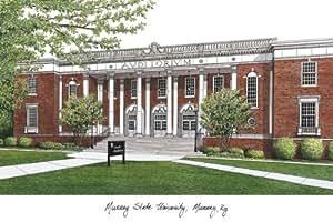 キャンパスイメージスポーツチームロゴデザインMurray State大学キャンパス画像リトグラフ印刷