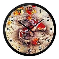 18-AnyzhanTrade 壁掛け時計サイレントムーブメント壁掛け時計ホームオフィス用インテリアリビングルームベッドルームとキッチン時計壁現代とスタイリッシュなミュートシンプルさ創造的なクォーツテーブル (Color : 28, サイズ : 14 In)