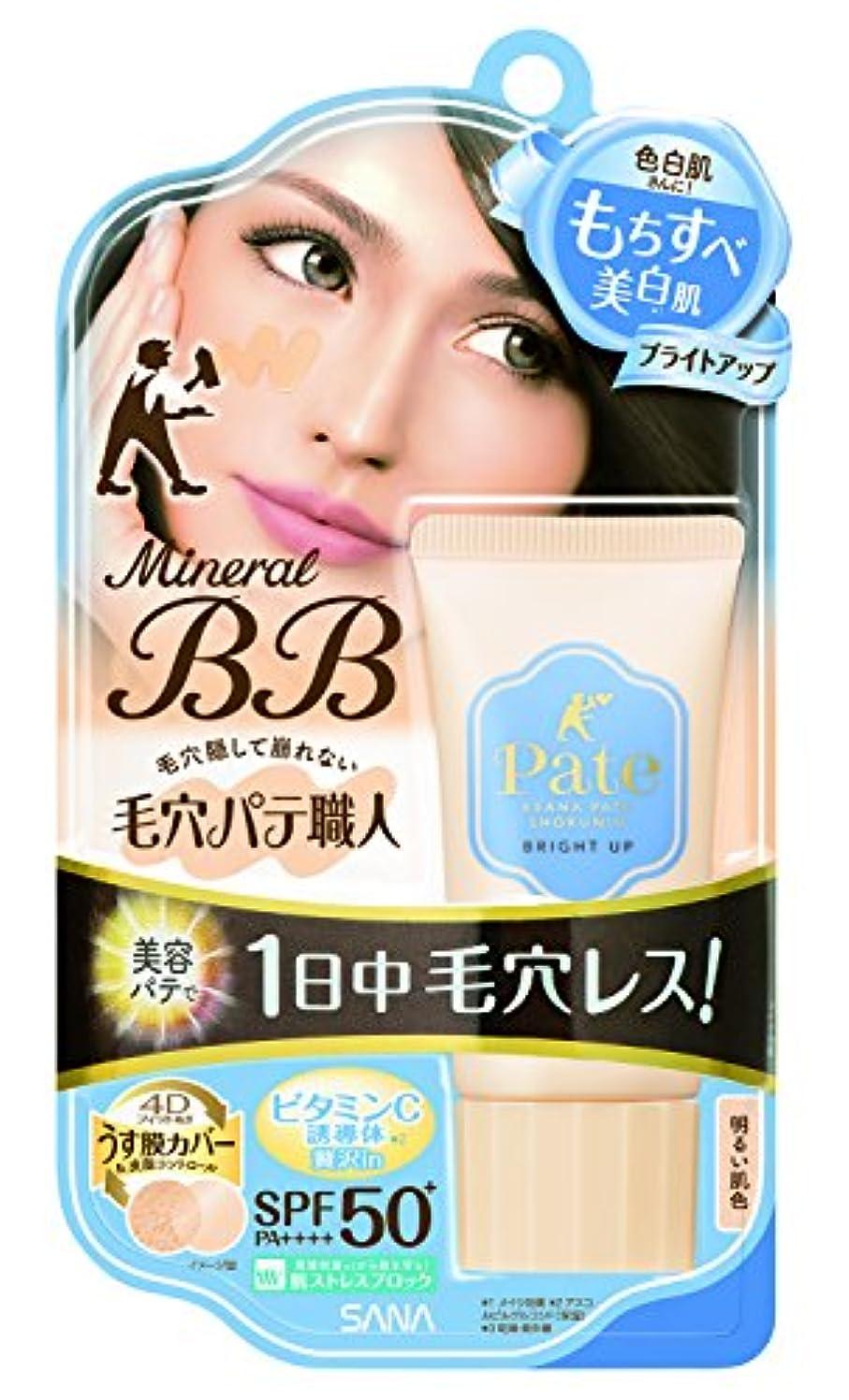 攻撃的調べるブランデー毛穴パテ職人 ミネラルBBクリーム ブライトアップ 明るい肌色 30g