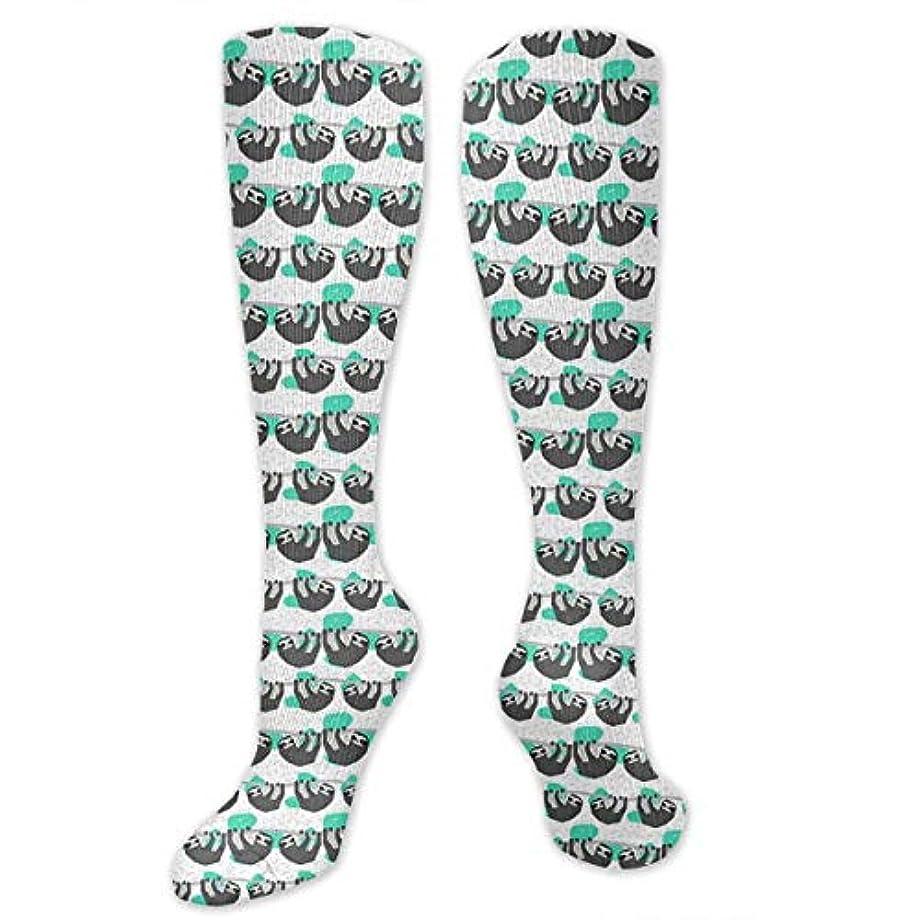 月面持続的受付靴下,ストッキング,野生のジョーカー,実際,秋の本質,冬必須,サマーウェア&RBXAA Geo Sloth Socks Women's Winter Cotton Long Tube Socks Knee High Graduated...