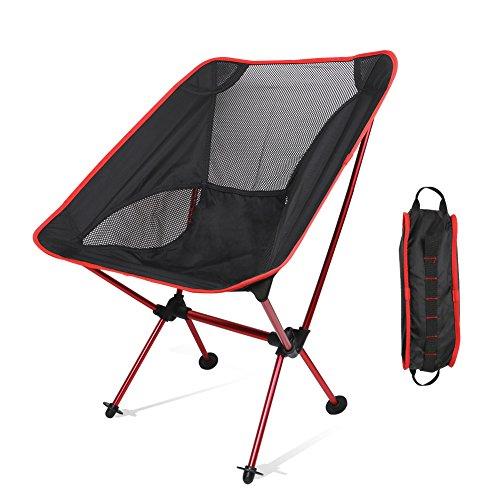 【アウトドアチェア・キャンプ用品】Linkax コンパクトチェア アルミ合金&軽量 専用ケース付き (折りたたみ椅子)