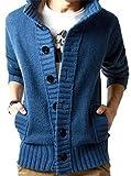 (アルファーフープ) α-HOOP メンズファッション カジュアル ストリート ボタン カーディガン アウター ジャケット M ~ XXL 大きい サイズ も KDG (16.ブルー(XXLサイズ).)…