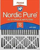 Nordic Pure Lennox X6675 交換用エアコン・ファーネス用エアフィルター 2 PACK 20x25x5LXREDM15-2 2