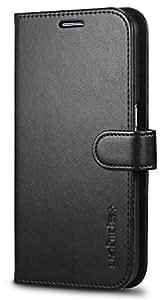 【Spigen】 Galaxy S6 Edge ケース, ウォレット S [ 手帳型 レザー スタンド機能 ] ギャラクシー S6 エッジ 用 (ブラック)