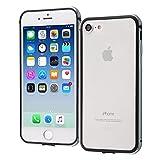 iPhone8 ケース バンパー iPhone7 共用 アルミバンパー スレートグレー 着脱簡単 ネジ不要 2層構造 TPU+アルミ 衝撃吸収