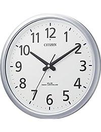 CITIZEN (シチズン) 電波 掛け時計 スペイシーアクア493 防滴防塵 シルバー 8MY493-019