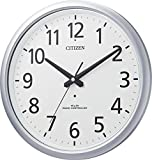 CITIZEN ( シチズン ) 電波 掛け時計 スペイシーアクア493 防滴 防塵 オフィス 業務用 タイプ シルバー 8MY493-019