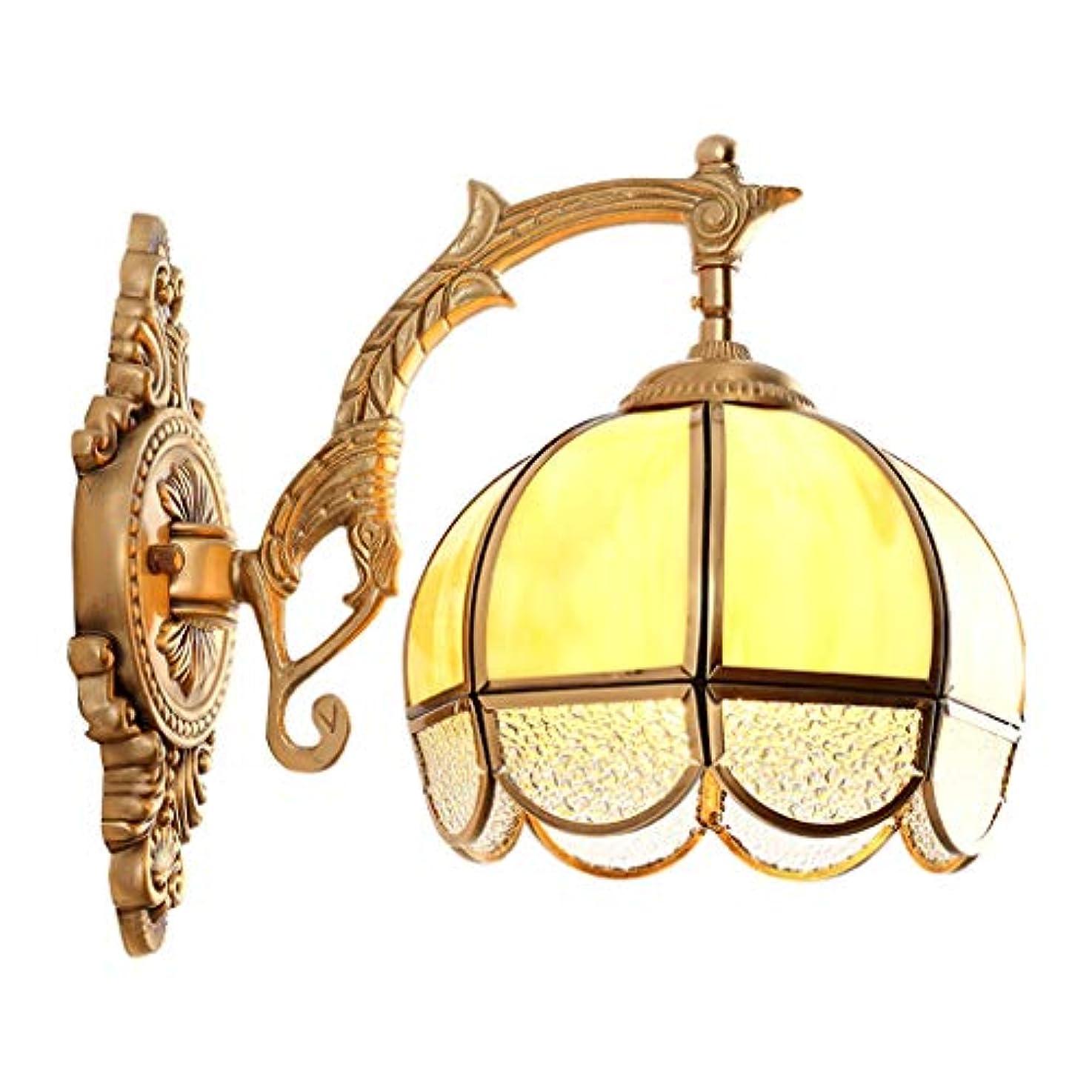違反するハンバーガーインポートフル銅ウォールライト、ヨーロッパの通路壁ランプ寝室の装飾通路ベッドサイドの照明器具リビングルームの背景壁ライト、暖かい白