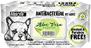 Absorb Plus Antibacterial Aloe Vera Scented Pet Wipes, 80 Sheets