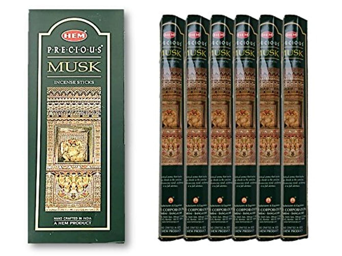 アブストラクト気配りのある先にHEM(ヘム) お香 プレシャス ムスク 1ケース(1箱20本×6)