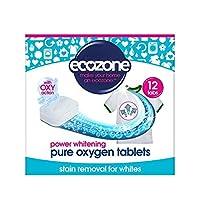 白人のための染み抜き剤&ホワイトナーは、12錠240グラムのアクションをオキシ (Ecozone) (x 4) - Ecozone Stain Remover & Whitener for Whites Oxy Action 12 Tablets 240g (Pack of 4) [並行輸入品]