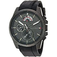 Tommy Hilfiger Men's 'COOL SPORT' Quartz Resin and Silicone Casual Watch, Color:Black (Model: 1791352)