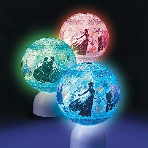 60ピース ジグソーパズル 光る球体パズル パズランタン アナと雪の女王 ウィンターズワルツ