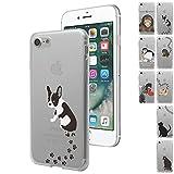 MIxUP iPhone 7 デザイン バック カバー ケース 簡単装着 衝撃吸収 TPU ソフトケースカバー アイフォン7 iPhone7 4.7 インチ おしゃれ かわいい 動物 犬 いぬ ドッグ フレンチ・ブルドッグ MXP-i7-2ANI-dog