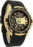 [シチズン Q&Q]腕時計 アトラクティブ ウレタンバンド アナログ メンズ ブラック×ゴールド DA54J102Y [並行輸入品]