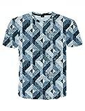 Pizoff(ピゾフ)メンズ 丸首 半袖 Tシャツ 花柄 ブリント ゆったり BF風 原宿系 大きいサイズ ヒップホップ カットソーAC145-54-M